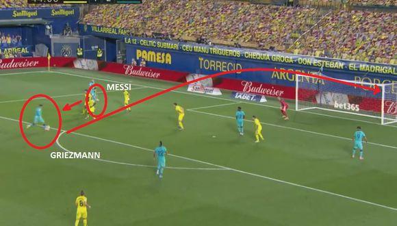 Lionel Messi y Antoine Griezmann combinaron para el tercero de Barcelona