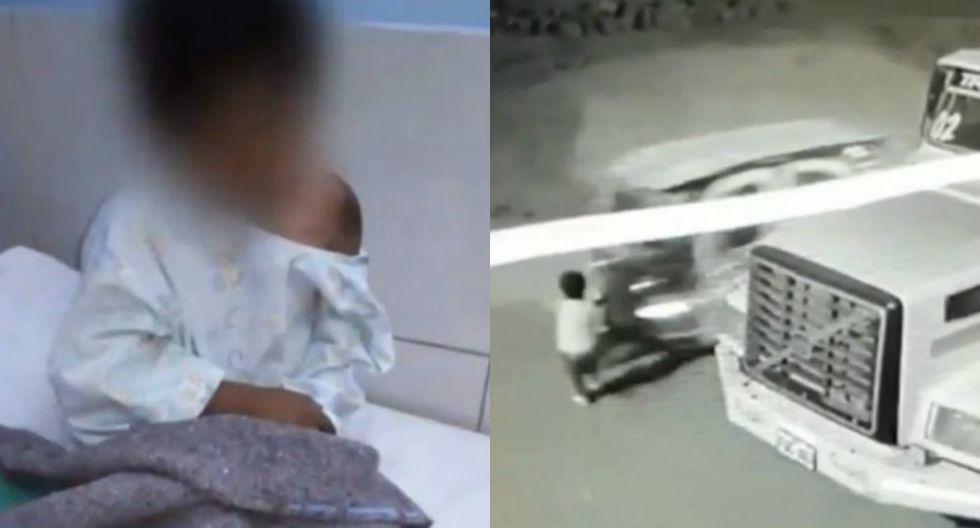 Mototaxista embiste a niño y al intentar darse a la fuga, le pasa las llantas por encima. Foto: Captura de América Noticias