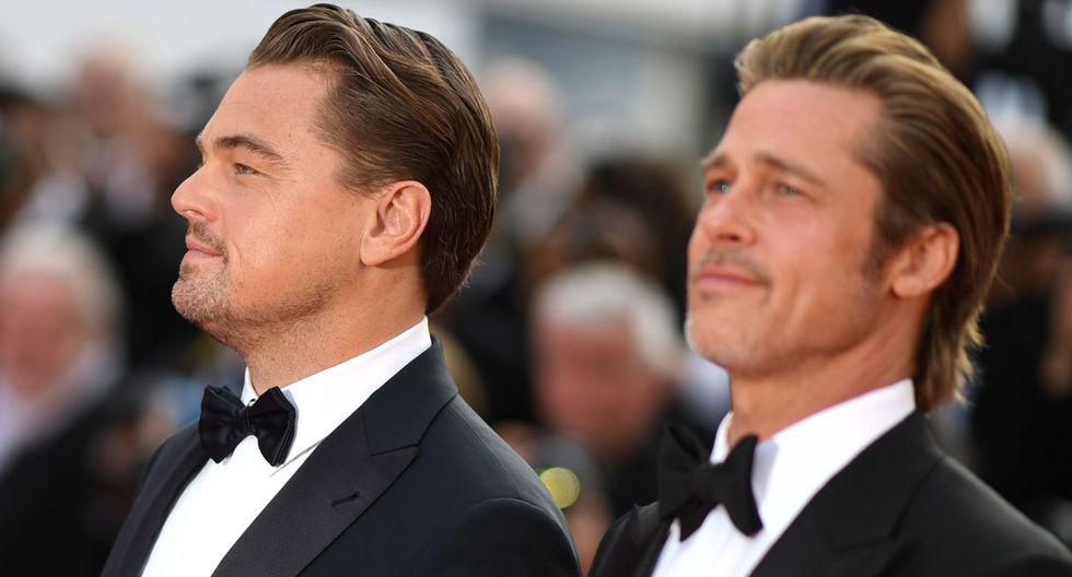 Leonardo DiCaprio y Brad Pitt se robaron el show a su paso por la alfombra roja del Festival de Cannes. (Foto: AFP)
