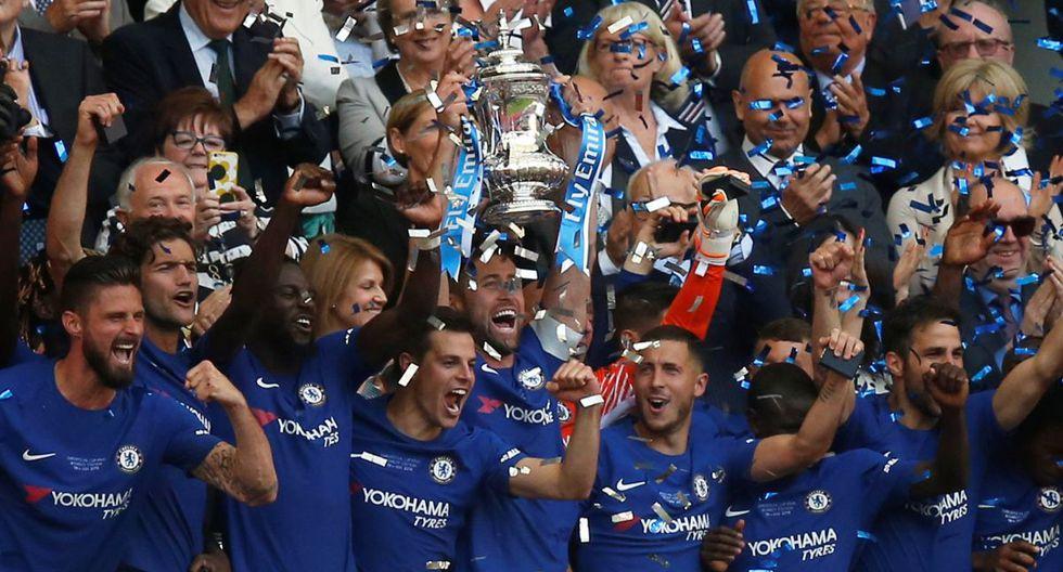 Chelsea campeón de la Copa FA: Venció 1-0 a Manchester United con gol de Eden Hazard   FOTOS