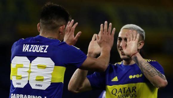 Boca Juniors vs. Defensa y Justicia: chocan en La Bombonera por la Liga Profesional de Argentina. (Foto: AFP)