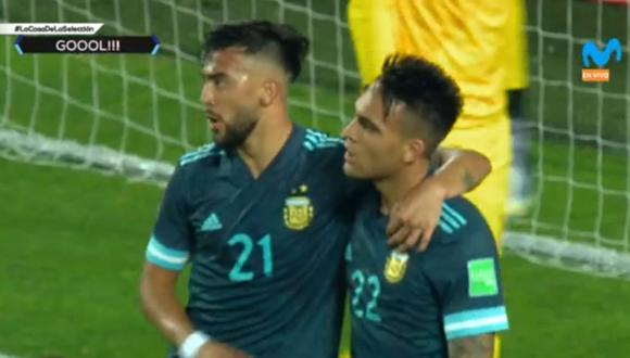 Gol de Lautaro Martínez en Perú vs Argentina por Eliminatorias