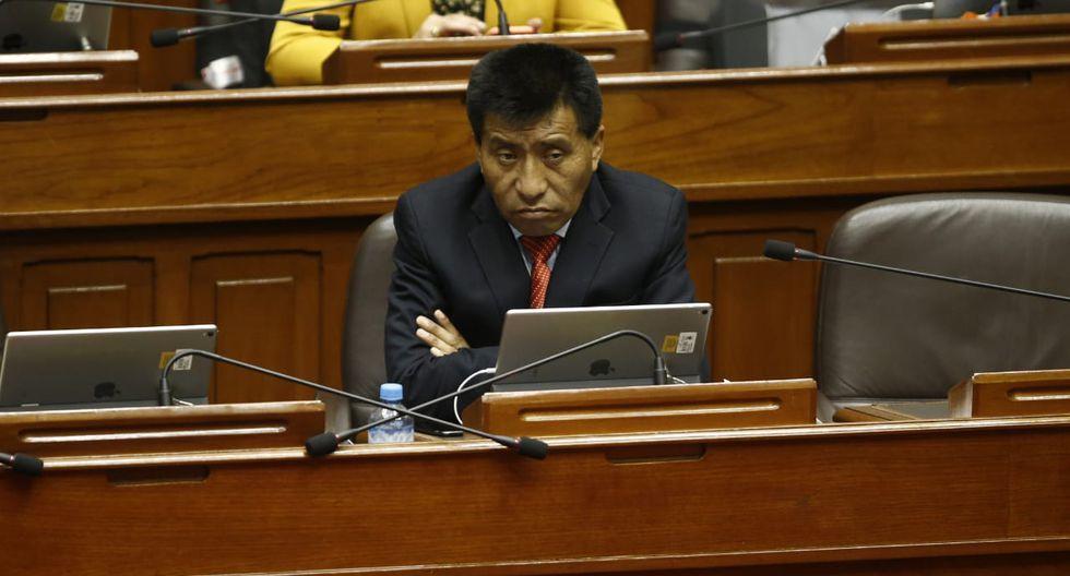 Moisés Mamani fue sancionado por grave infracción al Código de Ética Parlamentaria por perjudicar al Estado. (Foto: Renzo Salazar/GEC)