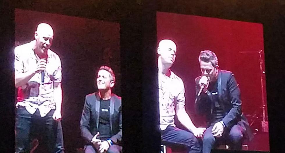 Alejandro Sanz cantó con Gianmarco en su concierto. (Trome)