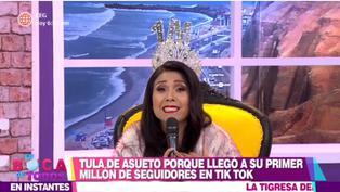Tula Rodríguez celebra que llegó al millón de seguidores en TikTok