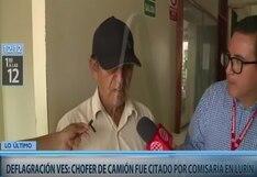 Villa El Salvador:  chófer de camión que ocasionó tragedia confirmó que su hijo sabía de sus infracciones de tránsito