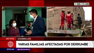 Chorrillos: Señora afectada por derrumbe confunde a América Tv con Latina y reportero la corrige