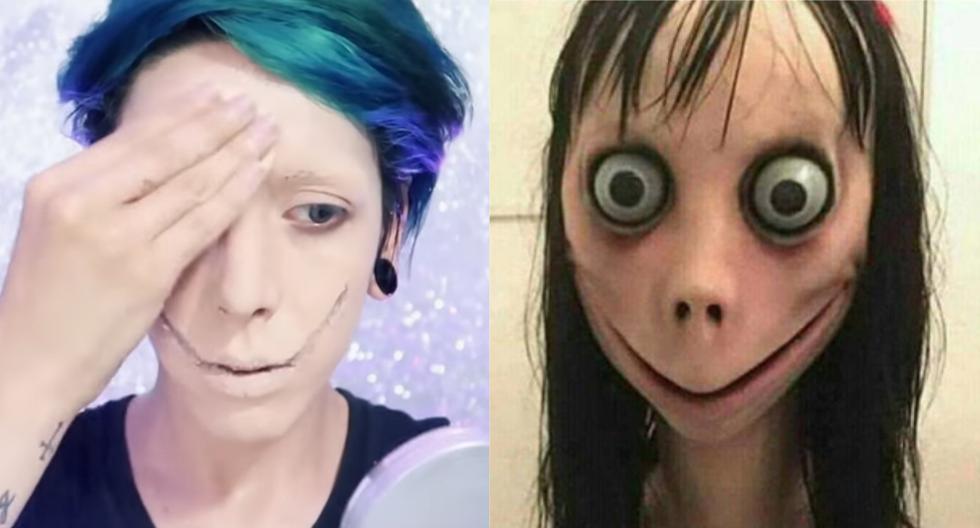 Se maquilla para transformarse en el personaje de WhatsApp 'Momo' y el resultado es espeluznante. (Foto: YouTube|Eliud Elizondo)