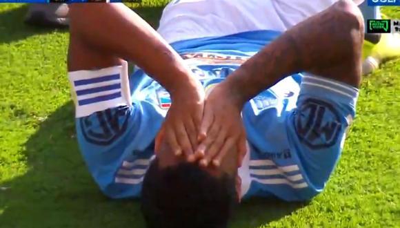 Olivares no pudo contener el llanto ante preocupante lesión (Captura Gol Perú)