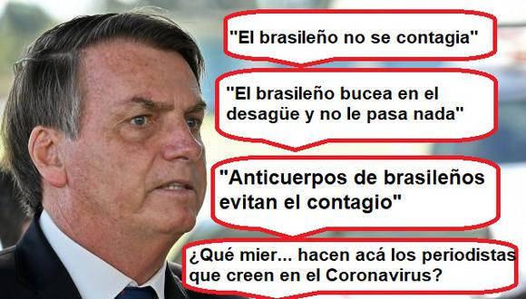 Coronavirus: Presidente de  Brasil y sus frases que causan repugnancia mundial por minimizar crisis de la pandemia
