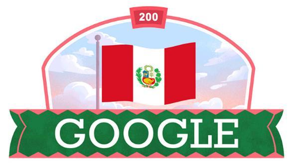 Google modificó su logo en homenaje a los 200 años de la proclamación de la Independencia del Perú. (Foto: Google)
