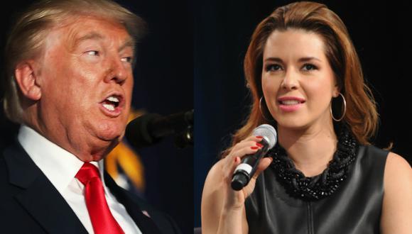 Donald Trump arremetió contra Alicia Machado.