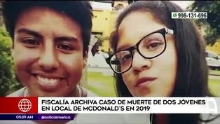 Fiscalía archiva investigación por muerte de dos jóvenes en un local McDonald's