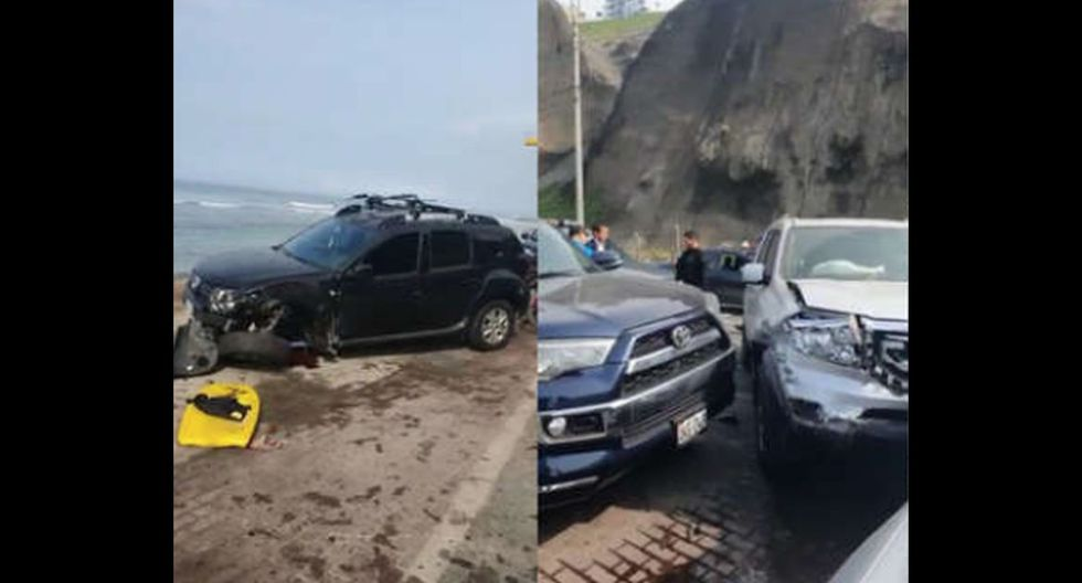 Chofer chocó contra otros cinco autos en Costa Verde