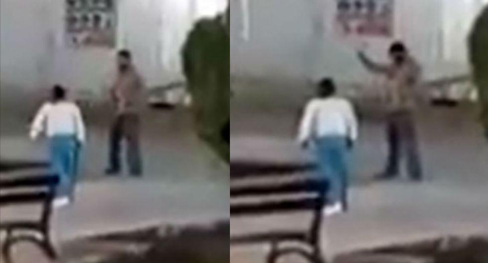 Mujer no dudó en agarrar a correazos a este hombre. (Video: Facebook)