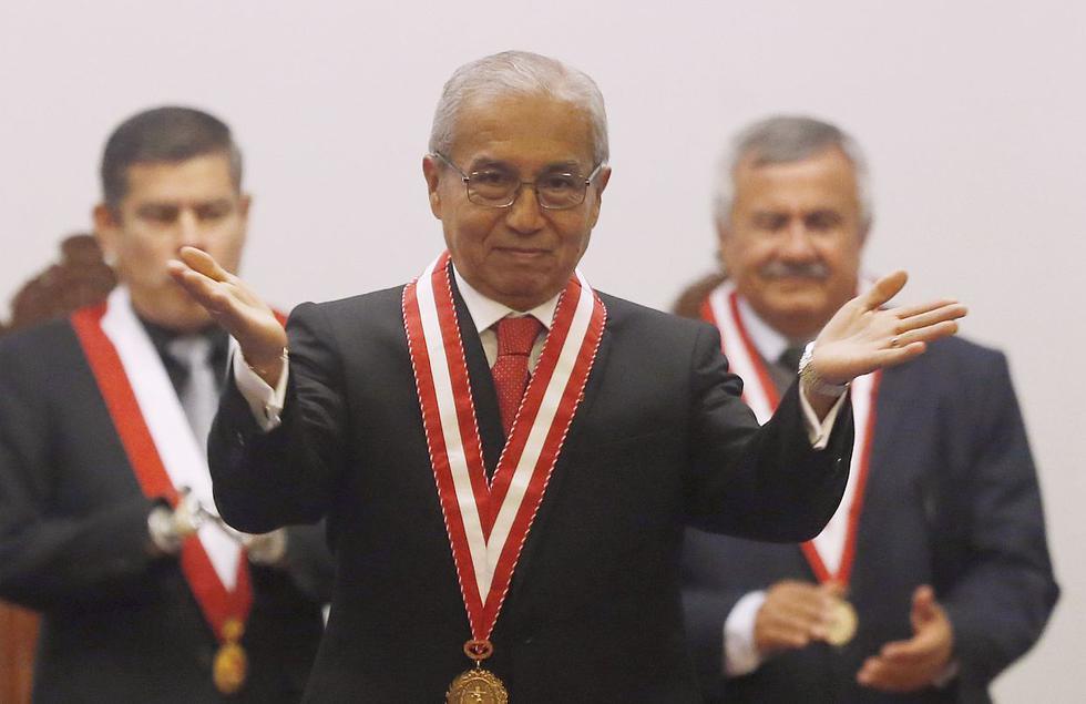 El fiscal de la Nación, Pedro Chávarry, se ha visto involucrado en el escándalo de los audios entre jueces y el CNM desde antes de asumir el cargo. (Foto: USI)