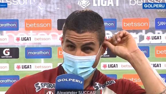 Alexander Succar quiso dejar el fútbol por constantes lesiones  en Universitario.