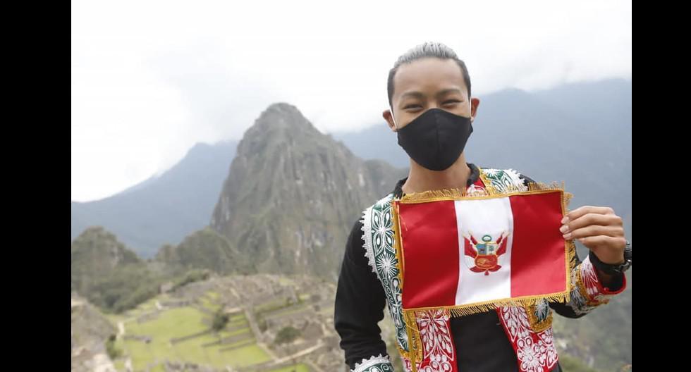 Japonés que fue el primer turista en visitar Machu Picchu tras el largo cierre por la cuarentena, se volvió embajador voluntario de nuestra ciudadela inca. (J. Katayama / Trome)
