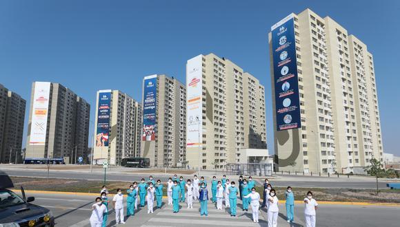 EsSalud implementa en la Villa Panamericana nueva torre con 400 camas para afrontar eventual tercera ola. (Foto: Seguro Social)