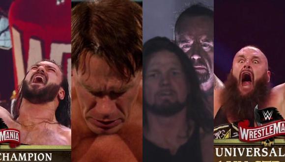Estos fueron los resultdos de las dos jornadas de WrestleMania. (WWE)