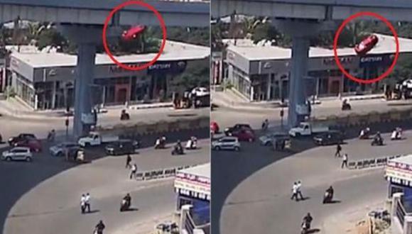 Brutal accidente en India. (YouTube)