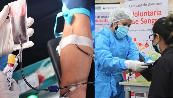 Donación de sangre en el Perú.