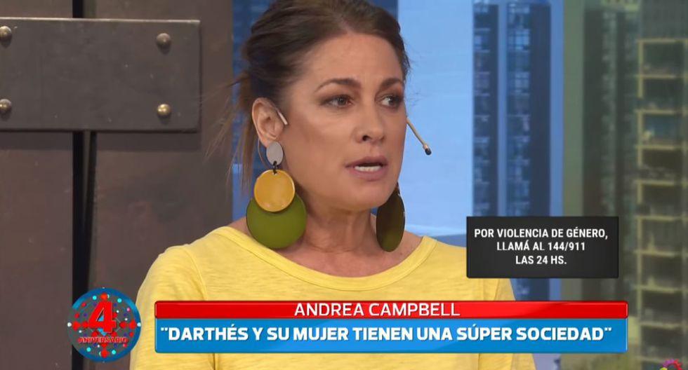 Andrea Campbell denunció a Juan Darthés por tocamientos indebidos.