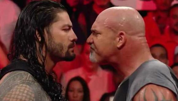 Tendremos frente a frente a Roman Reigns y Goldberg. (Foto: WWE)