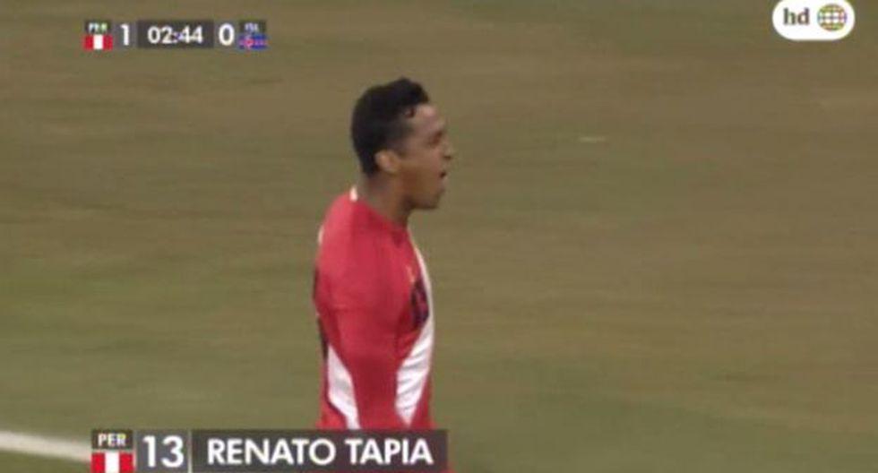 Gol de Tapia a Islandia