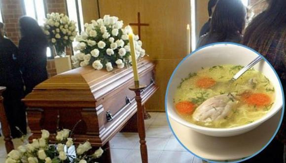 Murió atragantado por un pedazo de pollo en el velorio de su amigo. (Foto: Radio Yaraví)