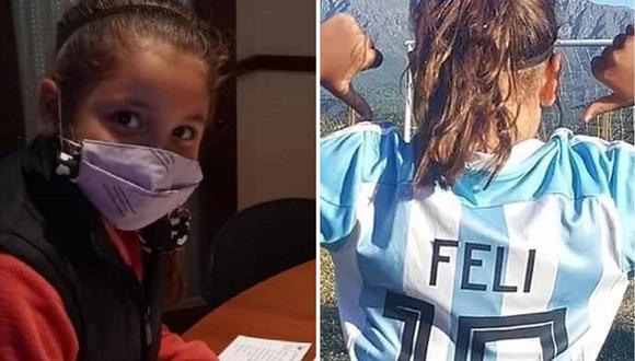 Felicitas Flores Mussi firmó contrato con Nike a los 8 años. (Foto: Instagram/Composición)