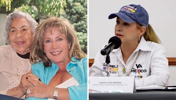 Laura Zapata criticó que su medio hermana Gabriela Sodi haya postulado a un cargo público. (Foto: Instagram @laurazapataoficial / @sodigabriela).
