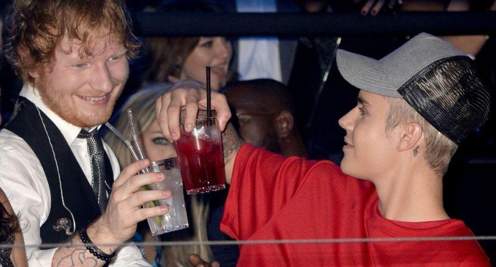 Justin Bieber y Ed Sheeran.