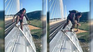 Viral: Mira el asombroso salto que realiza un intrépido joven desde un puente