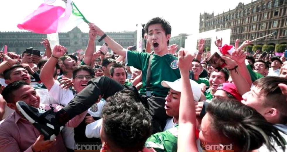 Hinchas mexicanos invitaron tequila cargaron y bailaron con coreanos en señal de agradecimiento