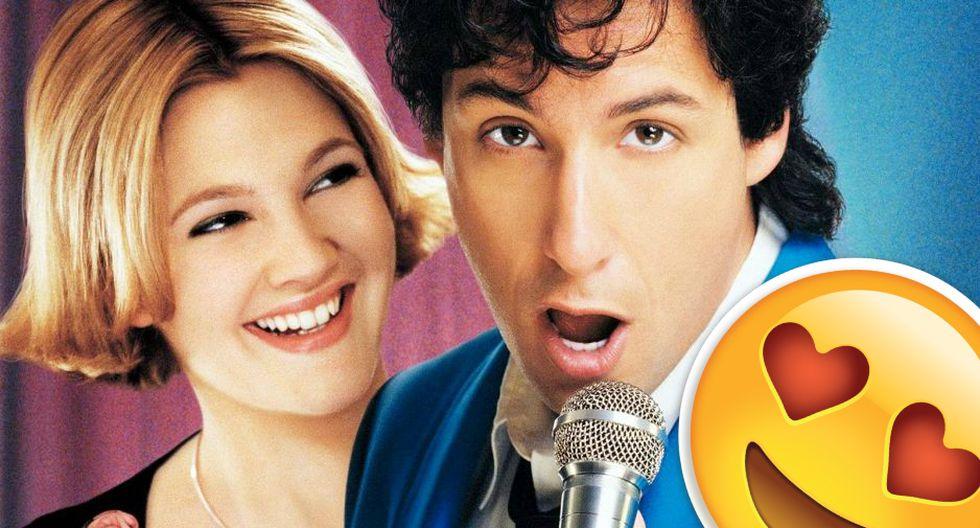 Adam Sandler y Drew Barrymore en El Cantante de Bodas.