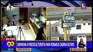 San Borja: Delincuentes disparan a fisiculturista para arrebatarle cadena de oro y se dieron a la fuga | VIDEO