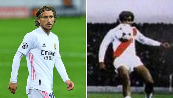 Luka Modric revivió tiro libre de Teófilo Cubillas en derbi de Madrid