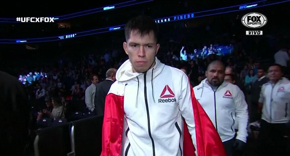 Jesús Pinedo lució la blanquirroja. (Captura UFC)