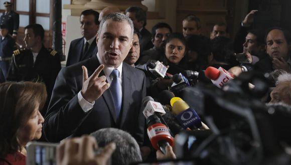 Salvador del Solar llega al Congreso para presentar moción de confianza. Foto: Anthony Niño De Guzmán