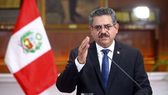 Manuel Merino anunció su renuncia a la presidencia del Perú. (Agencias)