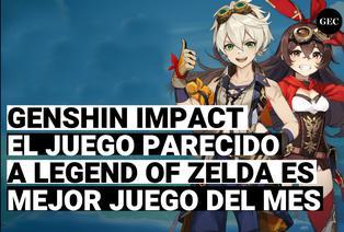Genshi impact, el Juego parecido a The Legend of Zelda Breath of the wild es nombrado como mejor juego del mes de Ps4