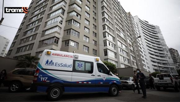 Edificio Santa Ana donde falleció el segundo infectado por COVID-19 en el distrito de Miraflores. Foto: Joel Alonzo/GEC
