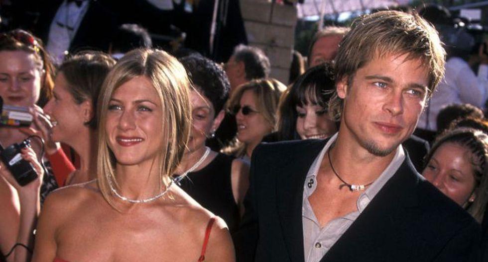 Jennifer Aniston y Brad Pitt.