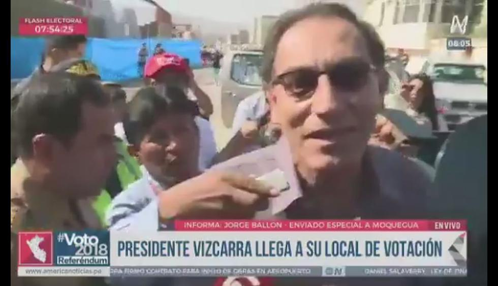 Martín Vizcarra llegó a su mesa de votación, pero...
