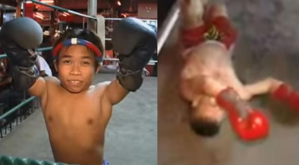 Pequeño salió triunfante del ring. (YouTube)