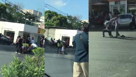 Matan a ladrón en zona comercial de Cancún. (Facebook)