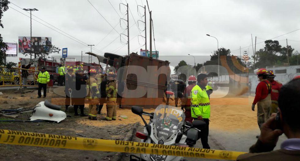 Dos muertos y dos heridos dejó accidente en la Panamericana Sur. (Fotos: Trome/Mónica Rochabrum)
