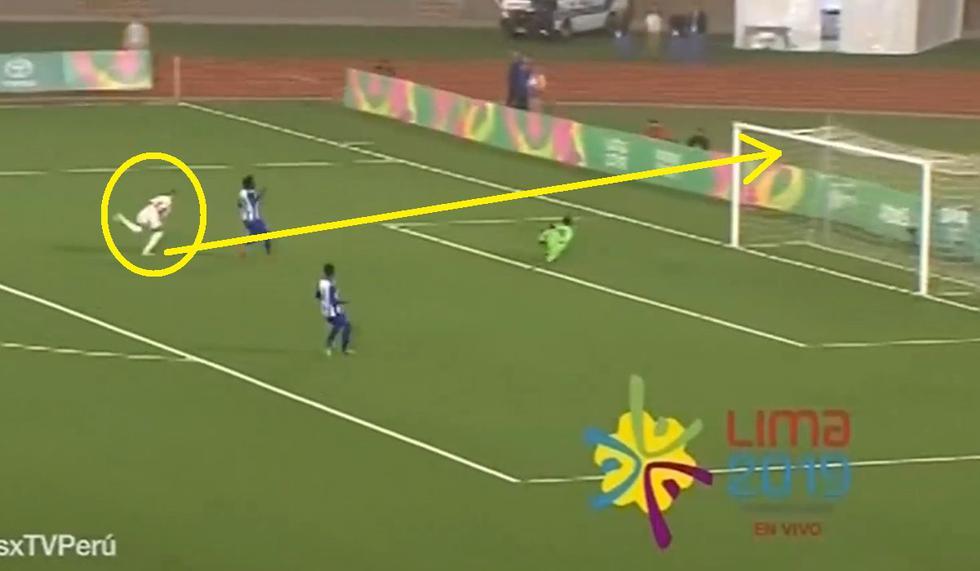 Golazo de Quevedo en remate exquisito y en primera en el Perú vs Honduras por los Panamericanos