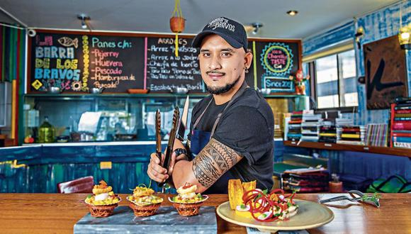 Chef Jonathan Guardia de la 'Barra de Los Bravos' de Chorrillos | Foto: Allengino Quintana